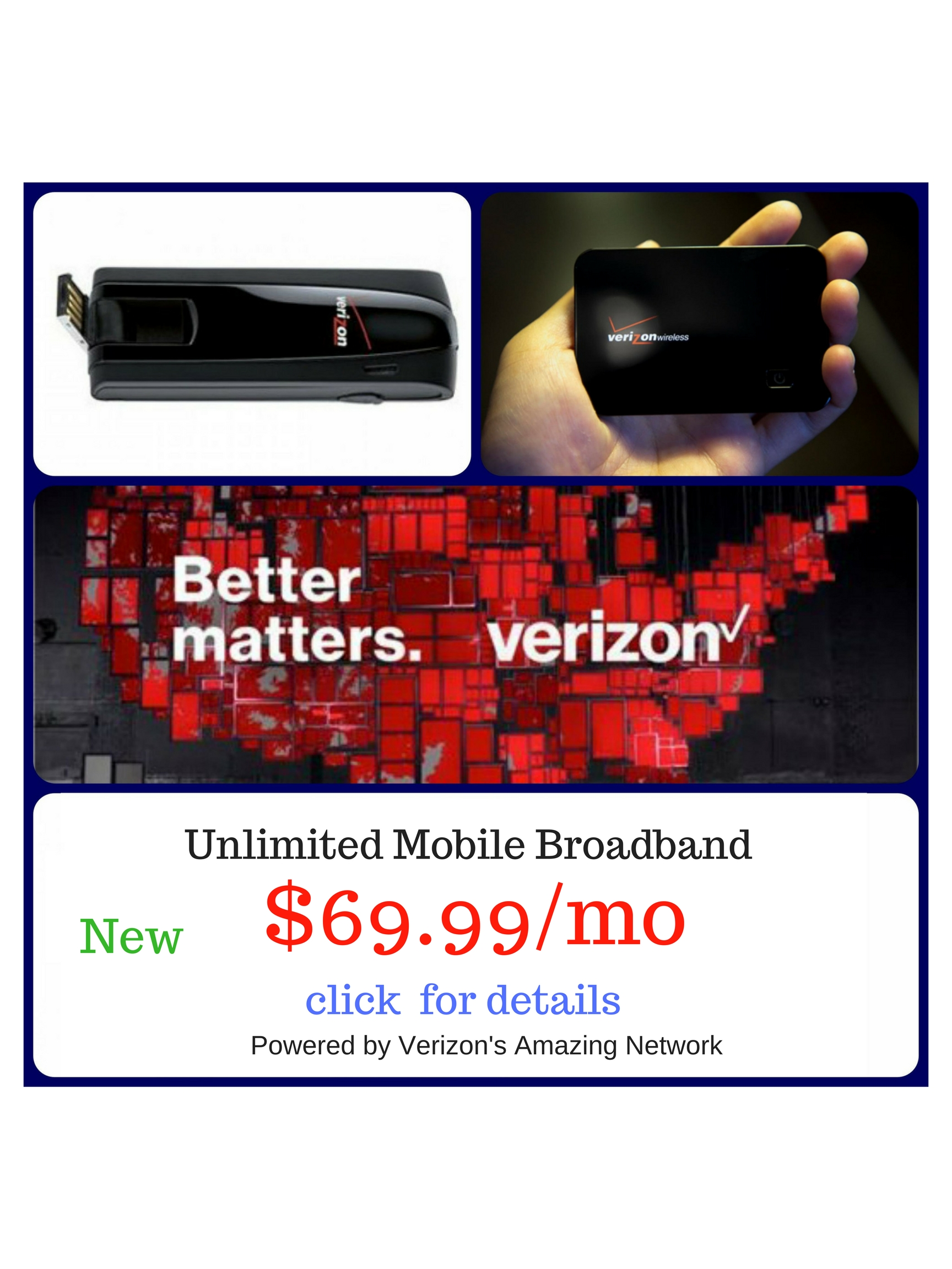 Mobile Broadband Rental - Unlimited VZN